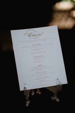 custom designed bar menu